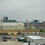 View from the hotel of Lambeau Field- Close!