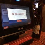 Tablet to reorder drinks, summon server, pay bill, play games!!