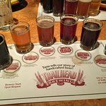 6 glass beer flight