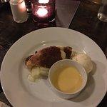 Beef and chicken roast, Bradley apple pie, ice cream and custard for dessert!