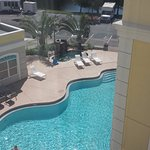 View of the pool area from our room