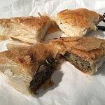 Lunch, Kreatopita on the bottom & Tiropita on the top