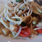 Veggie Pasta drenched in olive oil