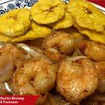Garlic Shrimp with Tostones