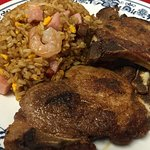 Pork Chops with Fried Rice (Chuletas Fritas)