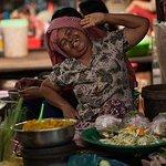 Vendor posing at Damdek Market