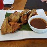 Fried chicken wings at Hornbill Restaurant