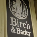 Birch & Barley Sign