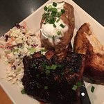 Combo Ribs, Chicken, Coleslaw and Baked Potato
