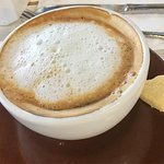 Nice start to my first day in Panama!  Pina juice cappuccino