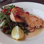 Tasmanian Salmon with a slight hint of chili, Delicious!