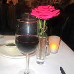 Cab Franc and Table Flower, Swiss Hotel Bar and Restaurant, Sonoma, CA
