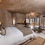 Earth Lodge Luxury Suite Bedroom