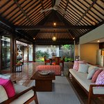 Living and Dining area of Three Bedroom Pool Villa