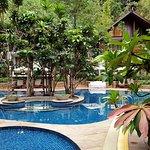 Quiet hotel pool