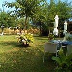 Jardín del restaurante