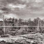 Falls Park am Reedy River Foto