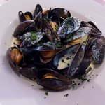 Moules in cream sauce
