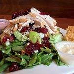 Harvest Cranberry Roasted Turkey Kale Salad