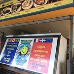 Le Sous-Marin order counter and menu.