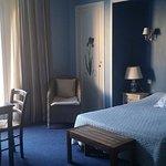 Notre chambre bien confortable et silencieuse!!!