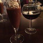 Italian espresso and chocolate mousse and Dablon Cabernet Franc