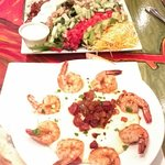 Cobb Salad and Shrimp and Grits