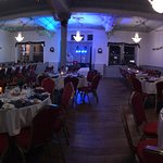 Function room Christmas party tables