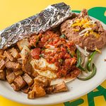 Fuzzy's does Huevos Rancheros and serves breakfast all day, every day!