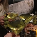 The BEST Hot & Dirty Martini's with blue cheese stuffed olives !