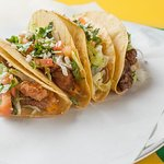 Of course we have tacos: ground beef, chicken, pork, brisket, grilled/tempura shrimp and fish