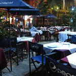 """Dining in the """"rain forest"""", what a fabulous setting in the concrete jungle."""