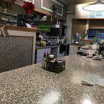 The counter at Bayside Cafe