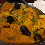 Paella Valenciana for 2. Very tasty, but needed a little more cooking.