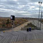 Atlantic city boardwalk and ocean in December