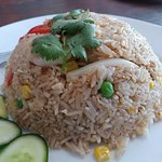 Yummy fried rice.