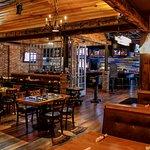 Dining area and horseshoe bar