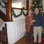 Carol and Bruce! Entryway of B&B