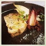 Chicken & Foie Gras Terrine, Walnut, Pear & Saffron Chutney