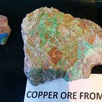 Raw copper ore. Look at the blue on the other piece!