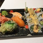 The assorted sushi - good value at about $15 - hard to find in this area