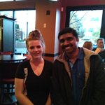 Me with the charming waitress ! No names
