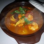 This is my delicious seafood curry for dinner! Yummy