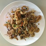 Deep Fried Squid Ring with Salt and Pepper
