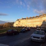 Looking down Lansdown Crescent towards number 17.