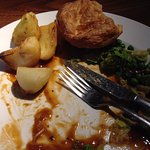 Cold Yorkshire pudding & potatoes