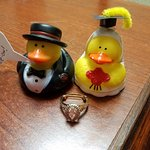 The cute ducks and engqagement ring