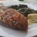 ерш и традиционный хорватский гарнир из шпината