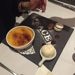 This is the signature french dish, the creme brûlée.