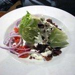 Iceberg Wedge Salad w/ Blue Cheese Dressing & Bacon